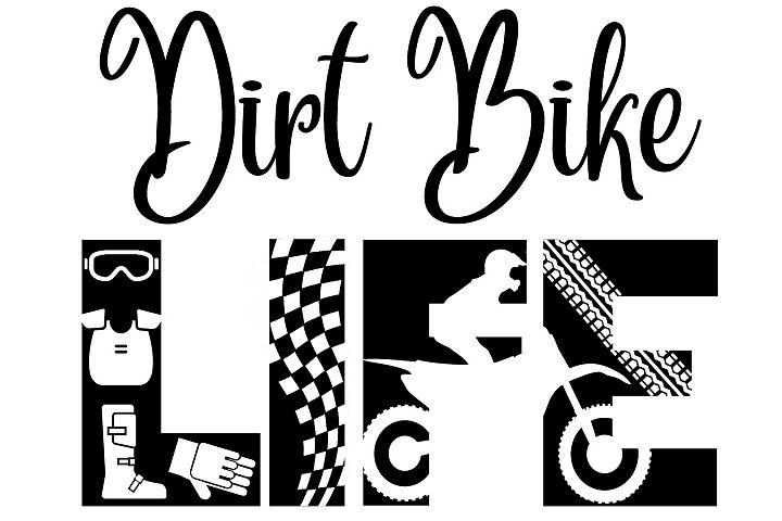 Dirt Bike SVG Cutting File for the Cricut