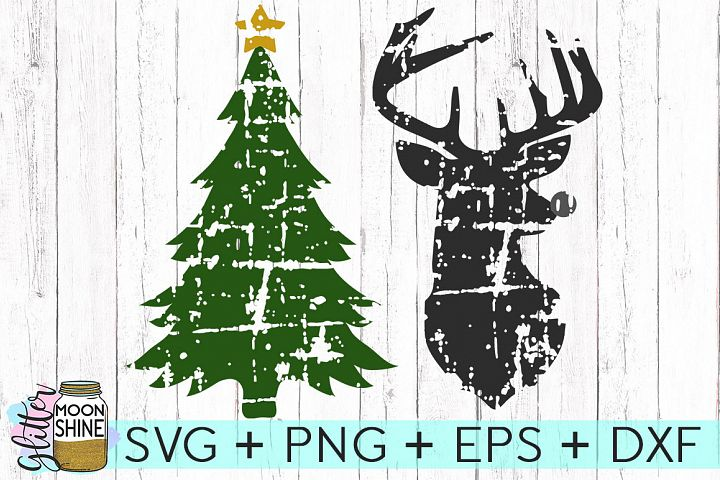Distressed Christmas Bundle SVG DXF PNG EPS Cutting Files