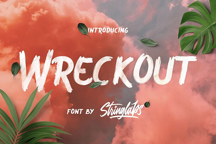 Wreckout - Decorative Brush Font