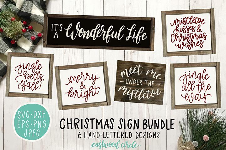 Christmas SVG Bundle - Hand Lettered SVG Files for Signs