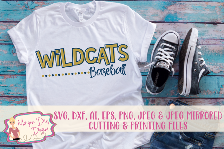 Wildcats Baseball SVG, DXF, AI, EPS, PNG, JPEG