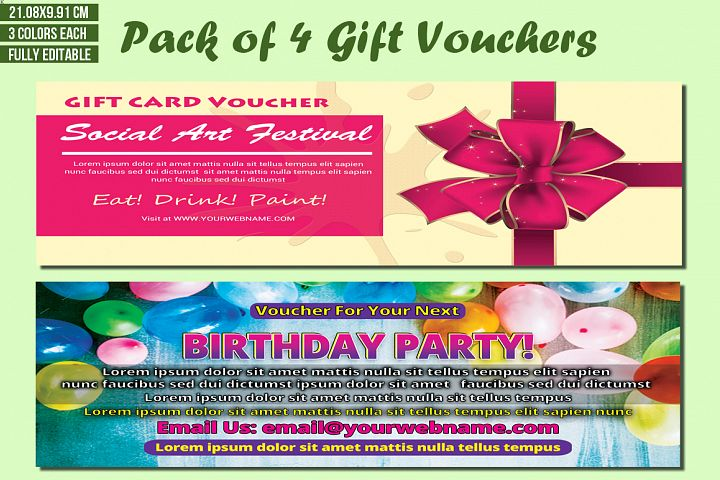 Pack of 4 Gift Voucher