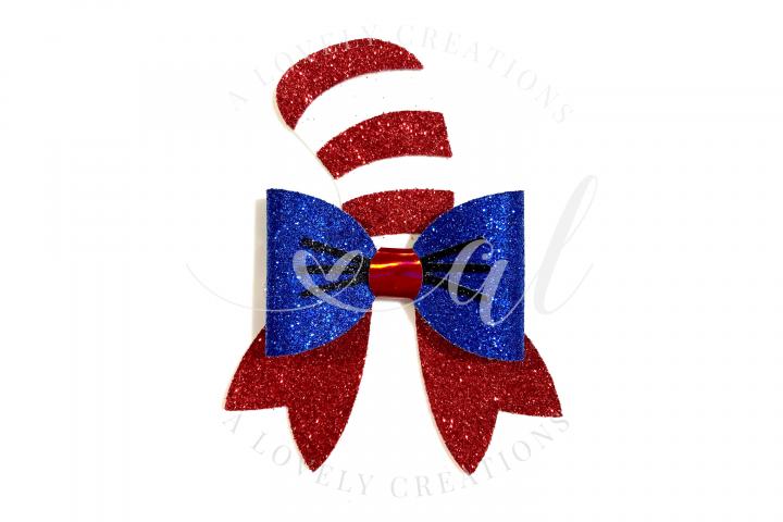 Dr Seuss inspired Bow - Hair Bow Digital Template