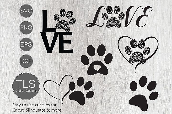 Dog Paw Print SVG