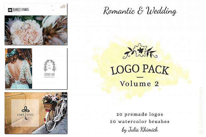 Logo Pack Vol.2. Romantic & Wedding