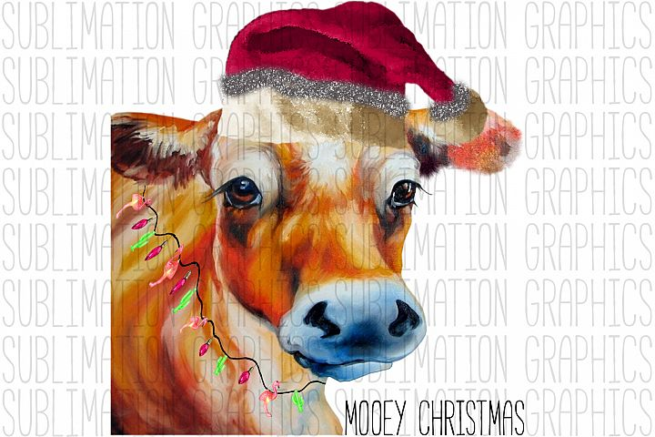 Mooey Christmas Sublimation Digital Graphic
