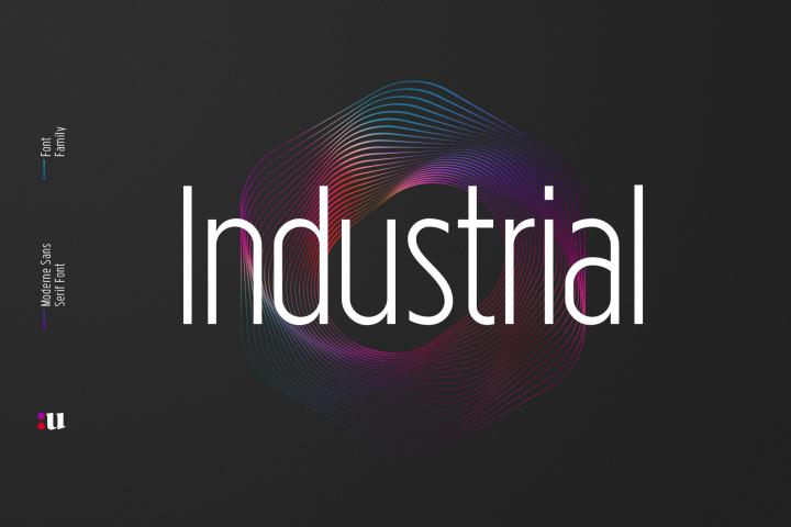 Industrial Sans Typeface