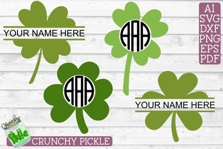 Shamrock / Clover Monograms St. Patrick SVG Cut File Bundle