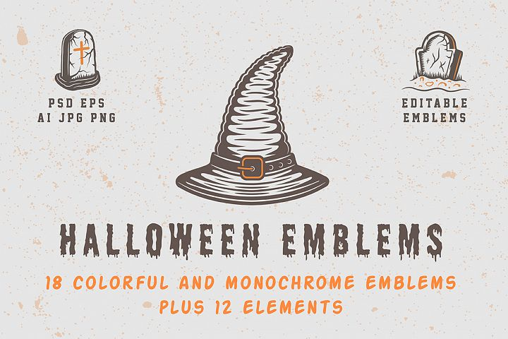 Vintage Halloween Emblems Part 1