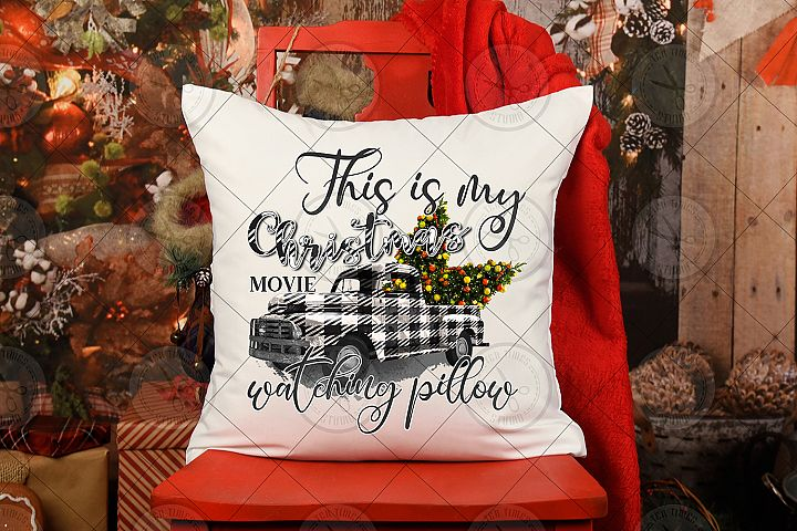 This is my Christmas Movie Watching Pillow Sublimation PNG D