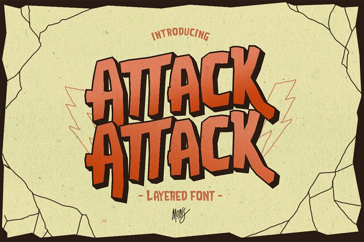 Attack Attack Typeface - Free Font of The Week