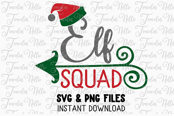 Elf Squad Svg Christmas Winter Holiday Cute Snow Cut File