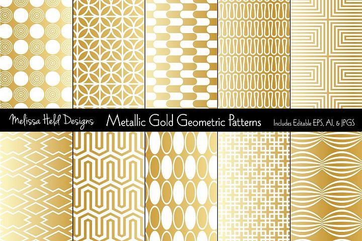 Metallic Gold Geometric Patterns