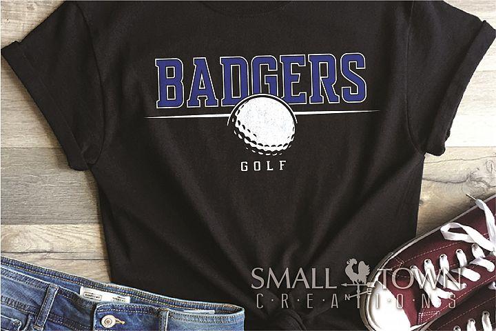 Badger, Badger Golf Team, Golf, Sport, PRINT, CUT & DESIGN