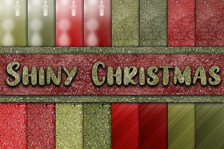 Shiny Christmas Digital Papers