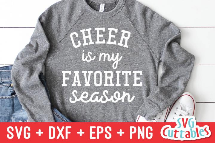 Cheer Is My Favorite Season   SVG Cut File