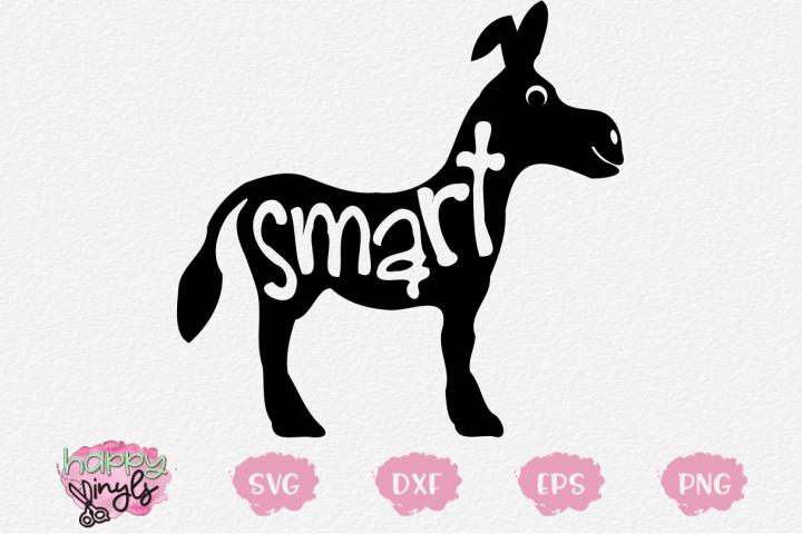 Smart Donkey - A Funny SVG