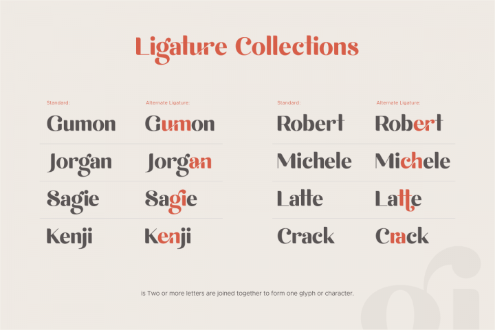 michael beautiful ligature font example image 10