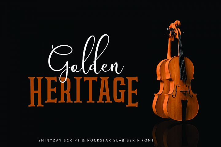 Shinyday & ROCKSTAR font duo - Free Font of The Week Design7