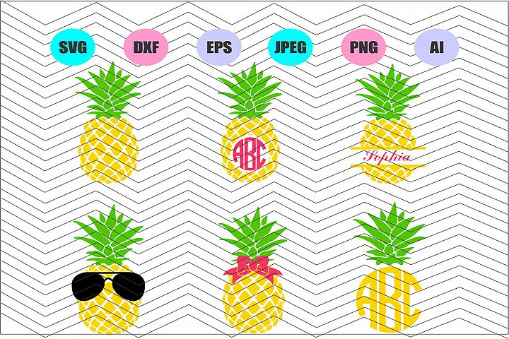 Pineapple Svg Dxf Eps Png Jpg Ai Cut Vector File Vinyl Decal