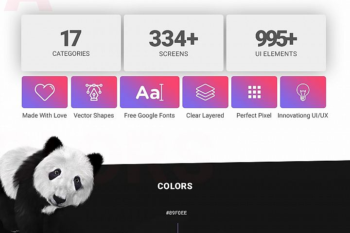 Panda Mobile UI Kit
