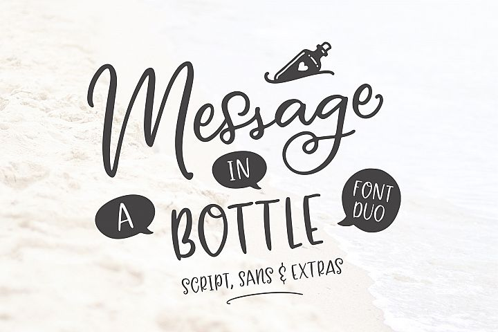 Message In A Bottle Font Duo And Extras