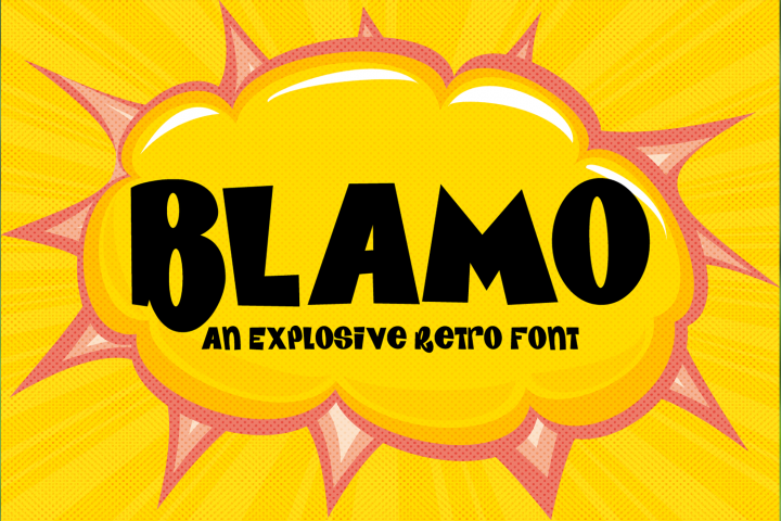 BLAMO - an explosive cartoon style font