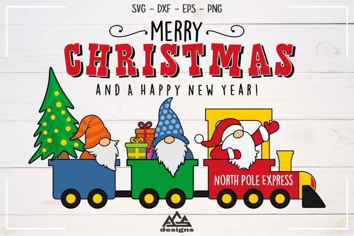 Gnome Santa North Pole Express Svg Design