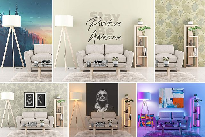 Interior Mock-up by day and by night vol.01