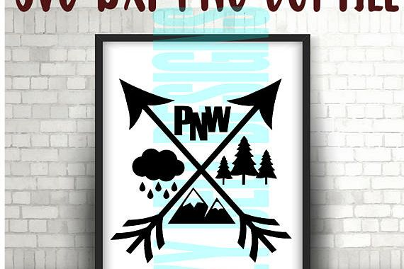 PNW Arrows-Washington, Idaho,Oregon,Print File, Digital Download, Instant Download, Cricut Cut Files, Pacific Northwest Outdoors, Wa, OR, ID