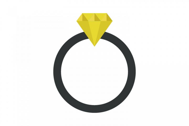 Ring icon with diamond