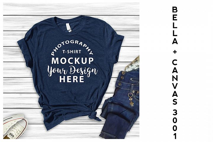 Bella Canvas 3001 All Heather T-shirts 16 mock-ups Bundle