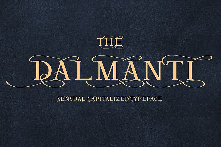 Dalmanti - Capitalized Typeface