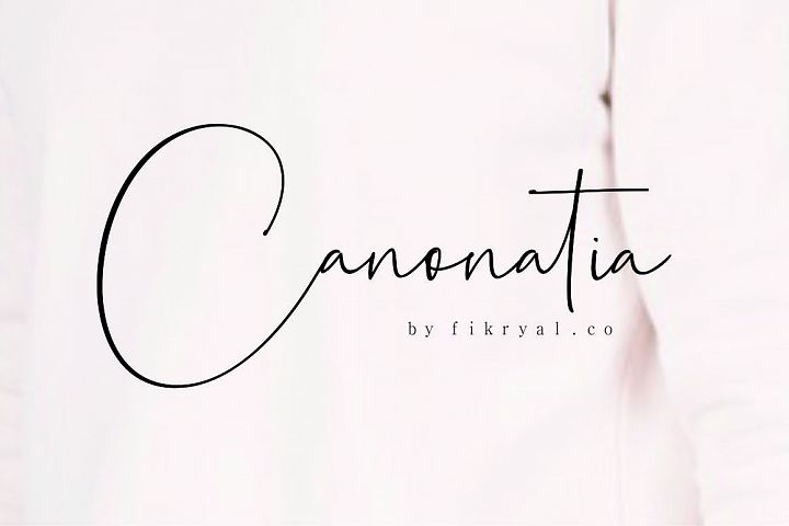 Canonatia // Handwritten Font