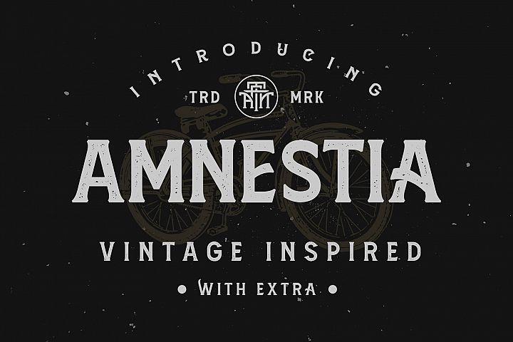 Amnestia Typeface with Extra