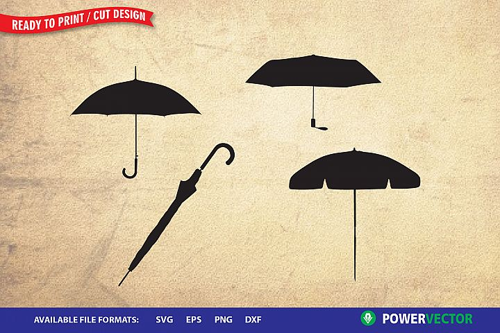 Umbrella Clipart | Svg Files for Cricut, Silhouette