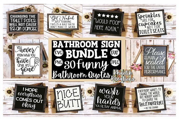 Bathroom Sign Bundle Svg, Funny Bathroom Quotes Svg