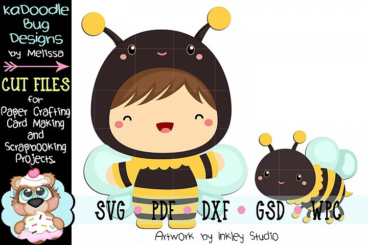 Bumble Bee Cuties Cut File - SVG PDF DXF GSD WPC