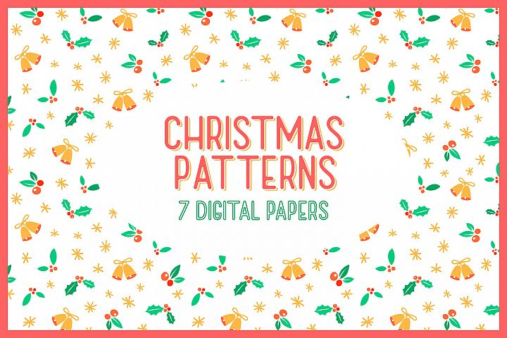 Christmas Patterns - 7 digital papers