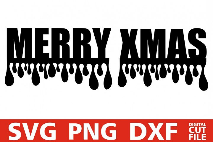 Merry Christmas svg, Dripping svg, Santa Claus, Christmas
