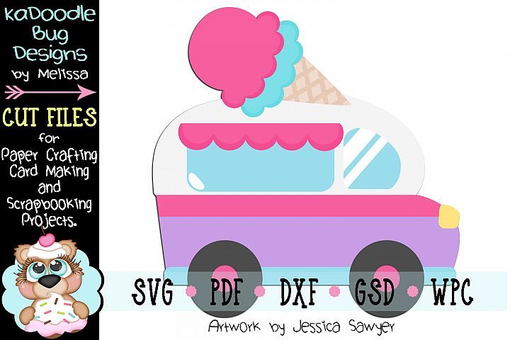Summer Ice Cream Truck Cut File - SVG PDF DXF GSD WPC