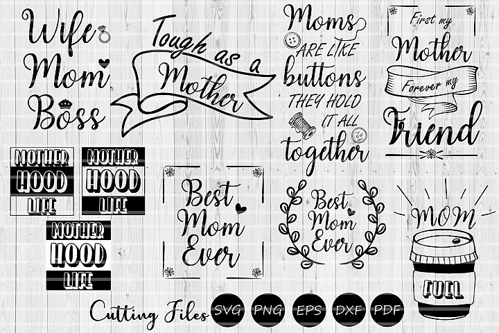 Mom life bundle| Mothers day | SVG Cutting files |