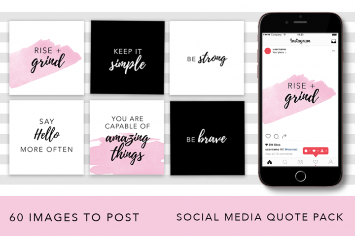 Girl Boss Instagram Quote Pack