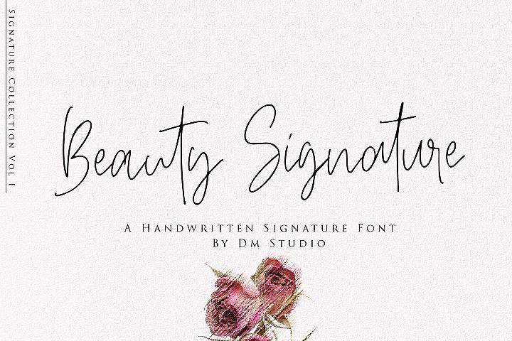 Beauty Signature - Handwritten Font