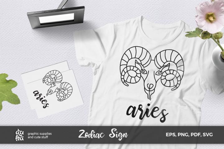 Zodiac Sign SVG Cut Files- Aries