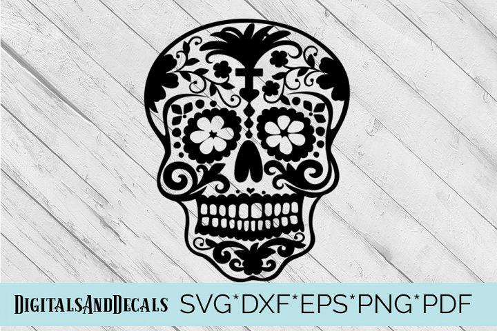 Sugar Skull SVG  Cutting File
