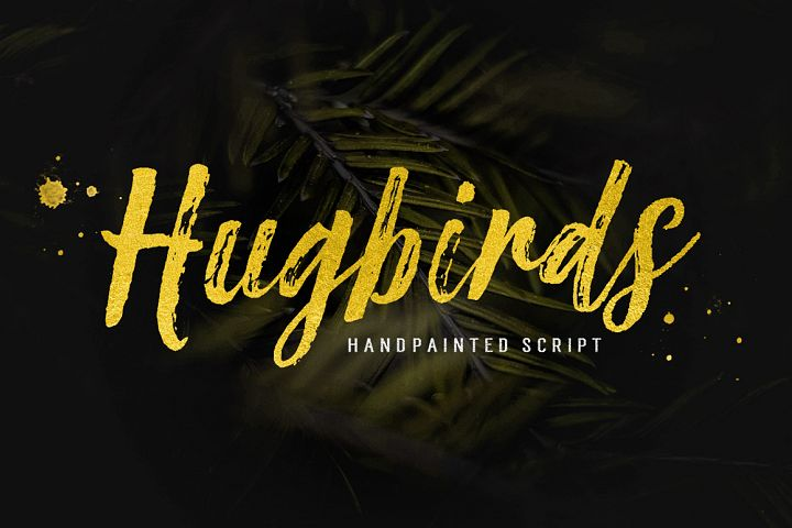 Hugbirds Brush Script