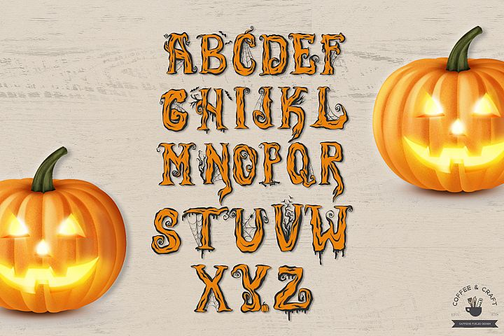 Halloween Alphabet - Free Design of The Week Design 3