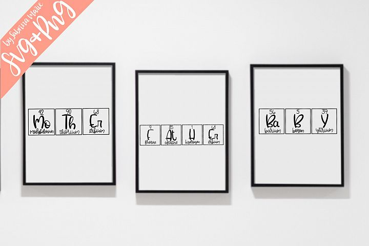 Mother/Father/Baby Periodic Table Bundle - SVG & PNG
