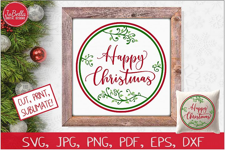 Happy Christmas SVG Printable & Sublimation PNG